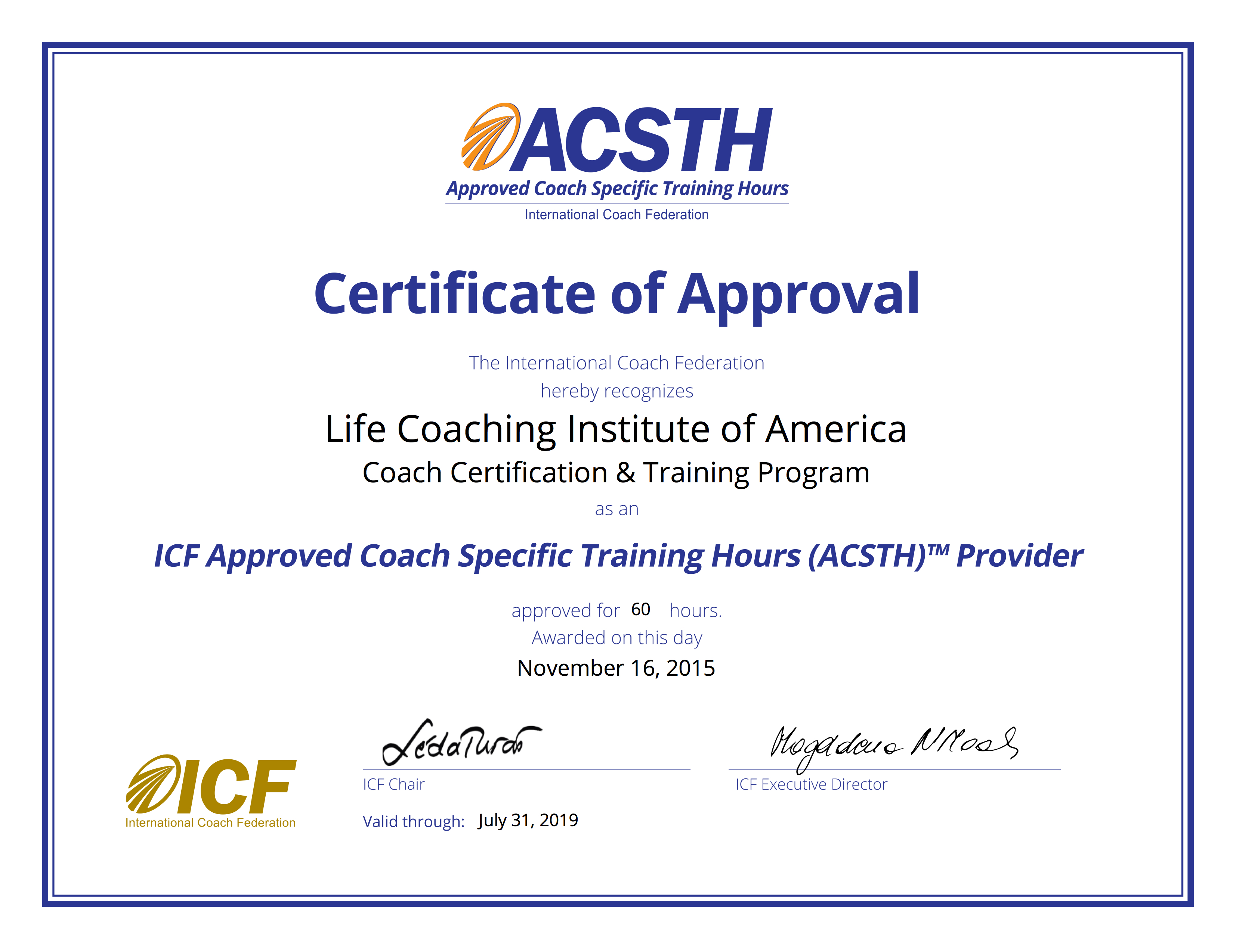 Life coach certification training life coaching institute of complete your international coach federation icf approved coach specific training hours in our one stop comprehensive program xflitez Images